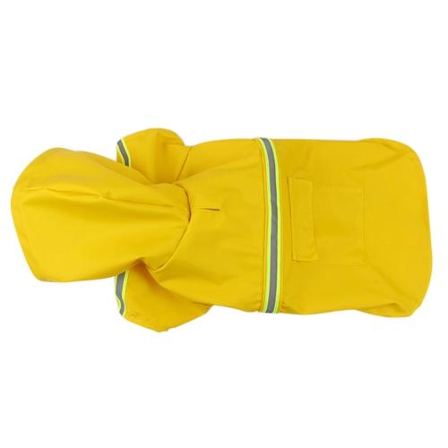 Pet Dog Raincoat Регулируемый щенок Rain Jacket Coat Cloak Style Водонепроницаемая одежда Poncho Rainwear с отражающей полосой