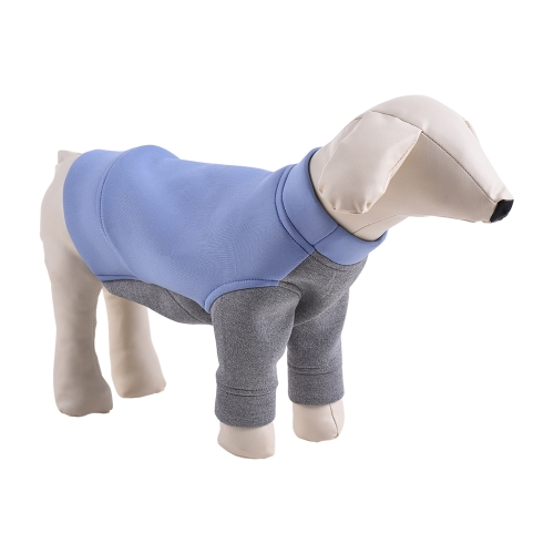 Premium Breathable Pet Dog Clothes Hoodie Sweater Fleece Color Blocking Cute Puppy Costume Supplies Adopt for Soft Space Cotton