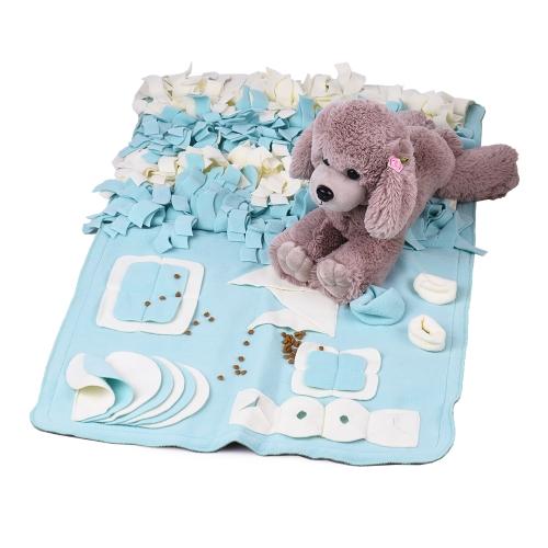 Handgemachte Hundespielzeug-Matte Snuffle-Trainings-Fütterungsherausforderungsmatten-Nasen-Arbeits-Decken-Maschinen-waschbares Haustier-Spielwaren