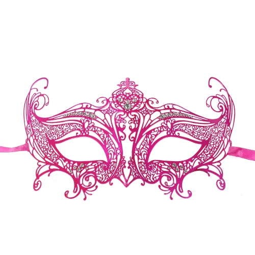 Festnight Романтический Роуз Лазерная резка металла Полумаска с Стразы Бал-маскарад маски Halloween Fancy подарок