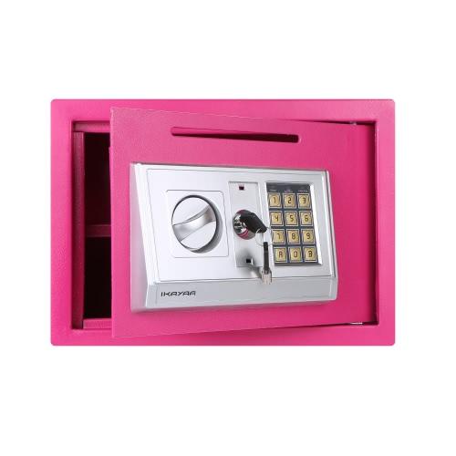 IKayaa Steel Digital Электронный сейф Box Cash Jewelry Gun Безопасность Блокировка клавиатуры для дома Office Hotel + Монтажные комплекты