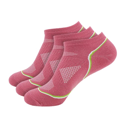 3 Pairs Women's Breathable Cotton Low Cut No Show Boat Socks Running Cycling Sport Athletic Ankle Socks for US 5.5-7.5 / UK 4.5-6.5 / European 36-39--Purple