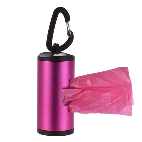 Colorful Pet Poop Holder Dog Waste Dispenser Алюминиевая трубка включает в себя 15шт мусорные корзины многоразового использования