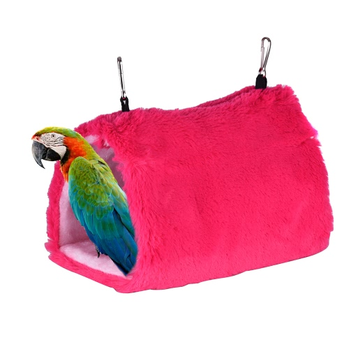 Warm Pet Hammock Bird Parrot Triangle Nest Tent Hut Hanging Snuggle Cave Hamster Squirrel Mouse Rat Bed Hideaway Toy