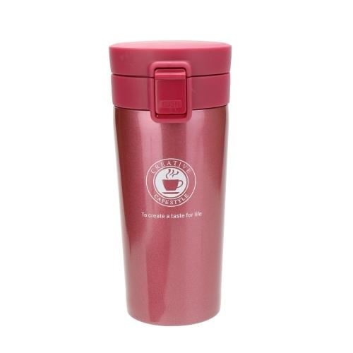 Nueva taza de vacío elegante del acero inoxidable de la tapa de la despedida de la taza de café del regalo del viaje de la taza del vacío