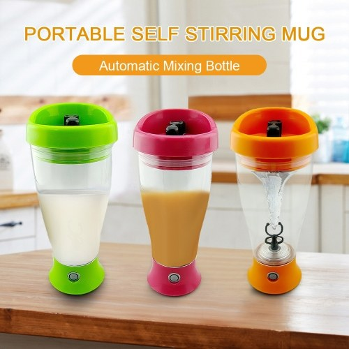 Portable Self Stirring Mug Automatic Mixing Bottle Powerful Tornado Shaker Electric Mixer for Milk Coffee Protein Powder