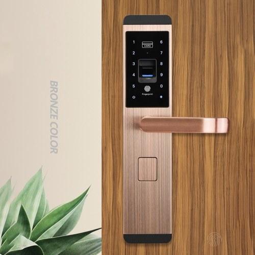 Универсальная безопасность Интеллектуальный дверной замок 100 групп отпечатков пальцев пароль дверной замок водонепроницаемый сенсорный экран безопасный противоугонные