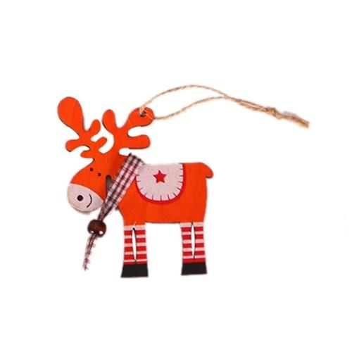 New Christmas Ornaments Wooden elk pendant Xmas Tree Tags