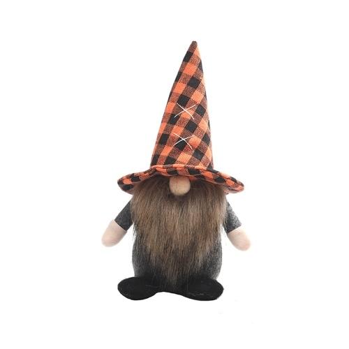 Halloween Decoration Dwarf Doll Decoration Faceless Doll Gnome Doll Theme Venue Background Ornaments