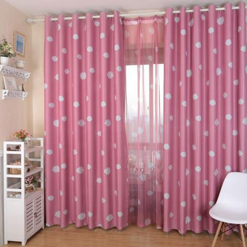 Anself 100 * 250см Романтический Облако шаблон Voile двери окна Шторы окна экрана для гостиной Свадебный банкет украшения Размер 39