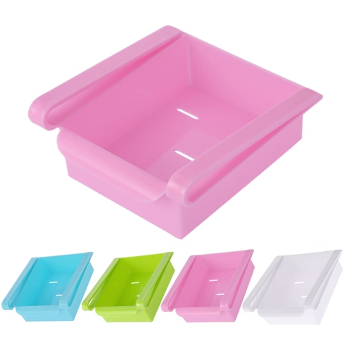 Multi-use Sliding Refrigerator Freezer Pantry Storage Organizer Bins Container Space-saving Fridge Storage Box Holder Kitchen Tool