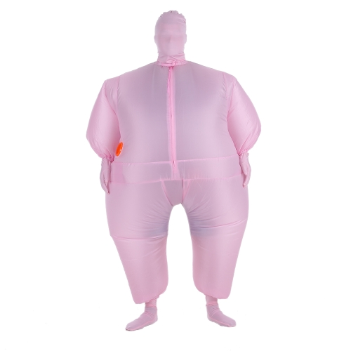 Funny Adult Size Inflatable Full Body Costume Suit Air Fan Operated Blow Up Fancy Dress Halloween Sports Party Fat Inflatable Jumpsuit Costume