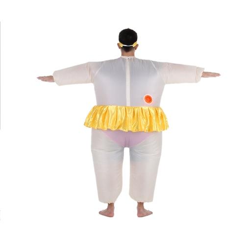Traje lindo inflable para adultos traje de bailarina de grasa / del aire del ventilador Hombres Mujeres Blow Operado Hasta fiesta de Halloween Fantasía mono del equipo del
