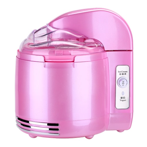 Parytretro 220-240V Retro Style 2-in-1 Yogurt Maker Ice Cream Maker Mini 1.5 L Household Fruit Electric Yogurt Machine