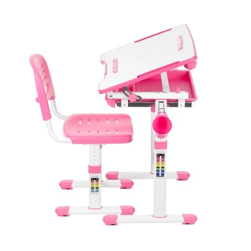 iKayaa Höhenverstellbare Kinderstudie Schreibtisch & Stuhl Set