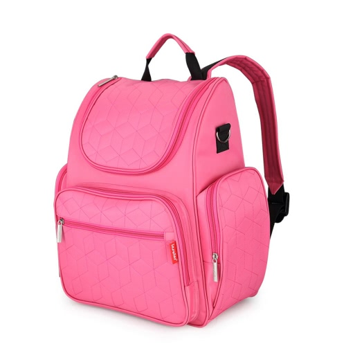 Insular Large Capacity Multi-functional Mommy Bags Nappy Bag Baby Diaper Backpack Organizer with Stroller Straps Changing Pad Wet Bag for Mom