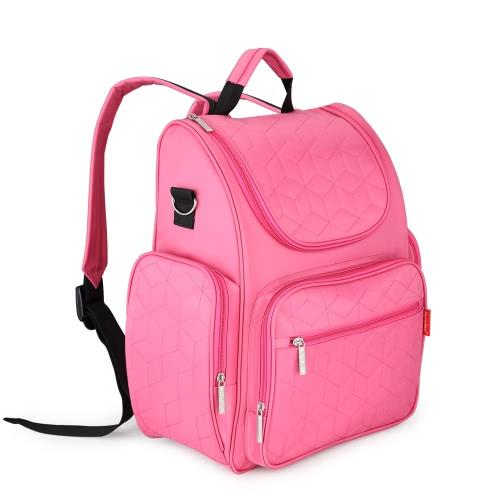 Insular Большая емкость Многофункциональные сумки для мам Сумки для пеленок Детские сумки для пеленок Органайзер с прогулочной коляской Shanging Pad Мокрый мешок для мамы