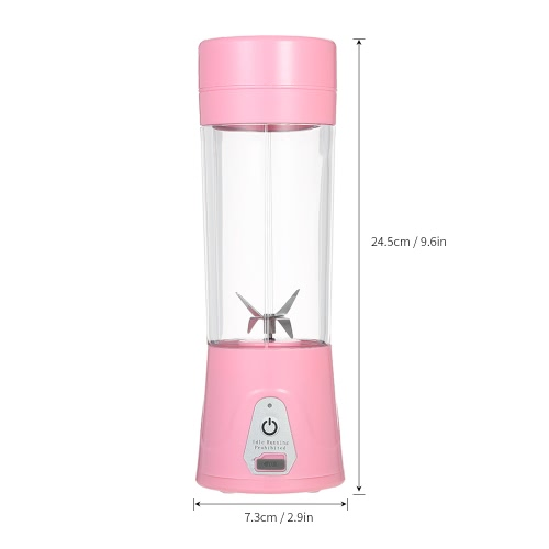 380ml Portable USB Rechargeable Juicer Cup