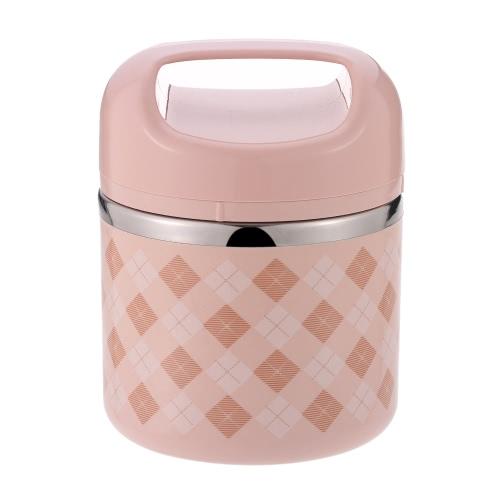 630ml 1-слойная нержавеющая сталь Обеденный ящик Удобная изоляционная коробка для ящиков с ящиками для пищевых продуктов с ручками для путешествий и продуктов питания