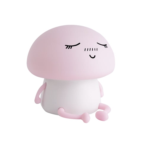 Cute Soft Silicone LED Night Light USB Rechargeable Baby Nursery Lamp Vibration Sensitive Tap Control 2 Lighting Modes
