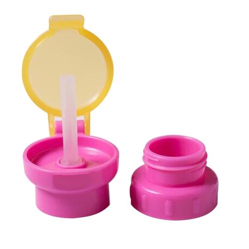 Baby Straw Lid Portable превращает в бутылку Snap Cap Младенец, защищающий от разливов соломы с капюшоном для малышей