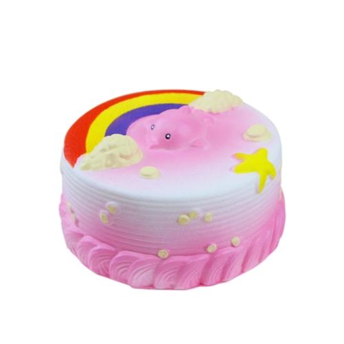 12CM Squishy Хлеб с Rainbow Party Home Decor Океанский торт Смазливая Шарм Супер медленный Восходящий Игрушка для малышей Fun Blue