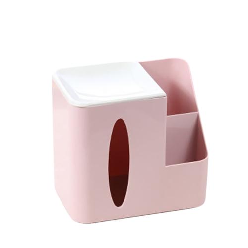 Простой настольный многофункциональный чехол для телят Жилая комната Офисные шкафы Косметика Косметика Пульт дистанционного управления Хранение Розовый