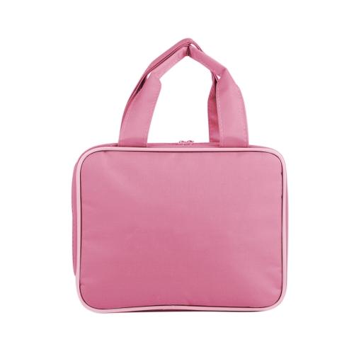 Portable Travel Camping Organizer Waterproof Cosmetic Makeup Shaving Bag Toiletry Kit Large Capacity Handbag Multufunctional Storage Bag  (Red)