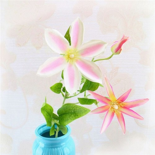 Artificial Trident Lotus Flower Simulation Silk Floral Fake Flowers Single Branch