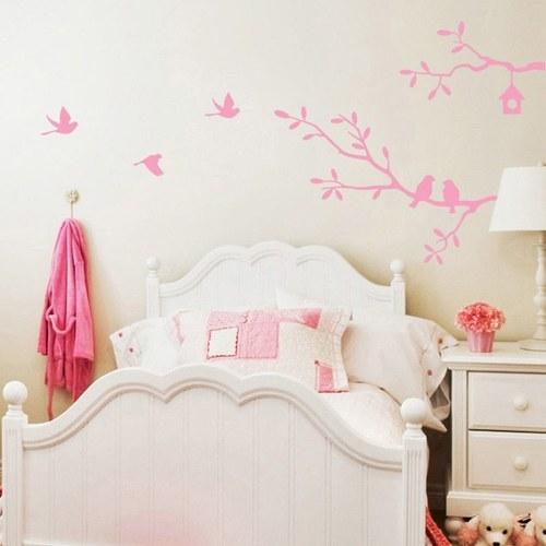 Adesivo da parete con rami viventi e camera da letto