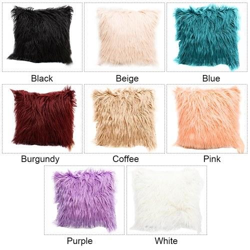TOMTOP / Long Plush Pillowcase Cushion Cover