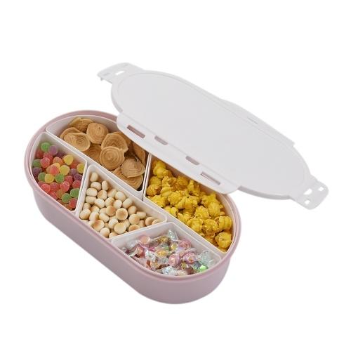 Obst-Muttern-Platte mit abnehmbarem, mehrteiligem Sub-Grid-Kunststoffbehälter