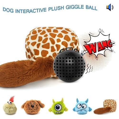 Palla da lancio di giocattoli interattivi in peluche. Palla da buttafuori