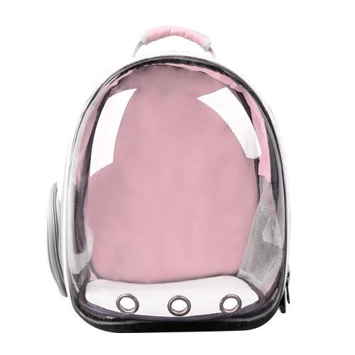 Pet Dog Прозрачный рюкзак Carrier Дорожная сумка, предназначенная для путешествий Пешие прогулки Прогулки на открытом воздухе