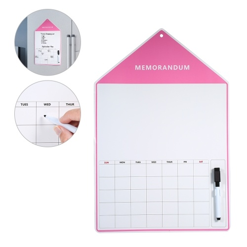 Fridge Magnet Calendar Dry Erase Whiteboard with Marker Weekly Reusable Board for Kitchen Refrigerator Kids Planner for Bedroom Study Room 17.7 * 11.8in