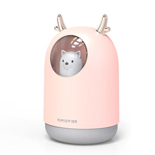 Mini USB Charge Multicolor Light Multifunktions-Luftreiniger Feuchtigkeitsspendend Niedlicher Luftbefeuchter in Rehkitzform für Haustiere