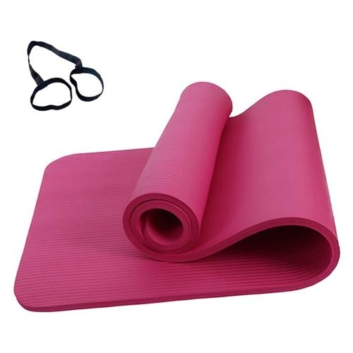 72 х 24 дюйма Коврик для йоги с нескользящим покрытием 10 мм, тренировочные маты с лентой для хранения и сеткой фото