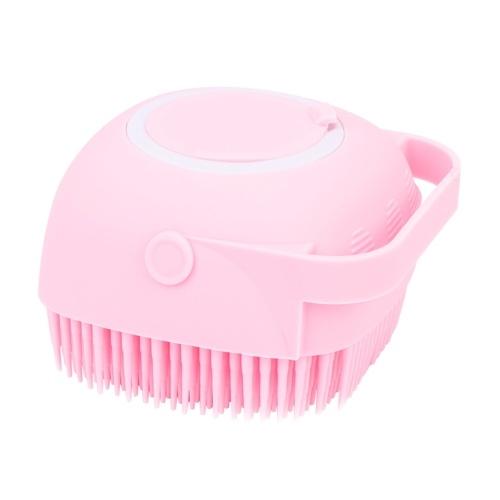 Cepillo corporal de baño con dispensador de champú para mujer Cerdas de silicona suaves Cepillo de masaje corporal de palma Cepillo de ducha exfoliante corporal Cepillo de baño para lavar Champú Masaje