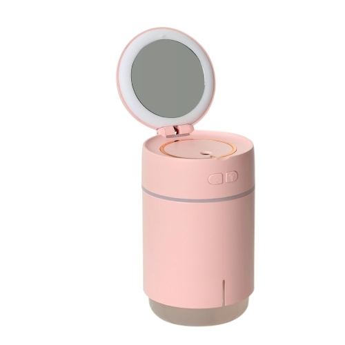 400mL Mist Humidifier Diffuser with Mirror Colorful Night Light