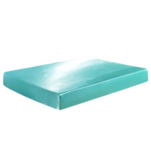 Well-made Soft Silk-like Polyester Fitted Sheet (Queen, Green), TOMTOP  - buy with discount