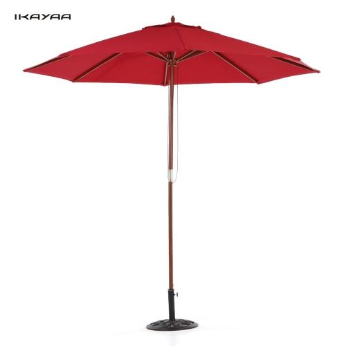Parasol de jardin diamètre de 2,7m IKAYAA -  3coloris disponibles