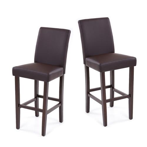 Lot de 2 chaises hautes en cuir PU IKAYAA