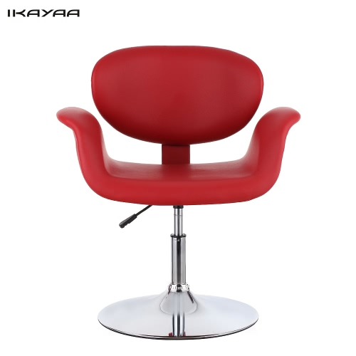 iKayaa Modern Ergonomic Adjustable PU Leather Salon Barber Chair Stool Padded Pneumatic Haidresser Chair