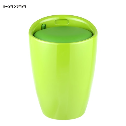 iKayaa Modern Stylish Storage Ottoman Chair PU Leather Plastic Foot Stool Rest Hidden Storage Box