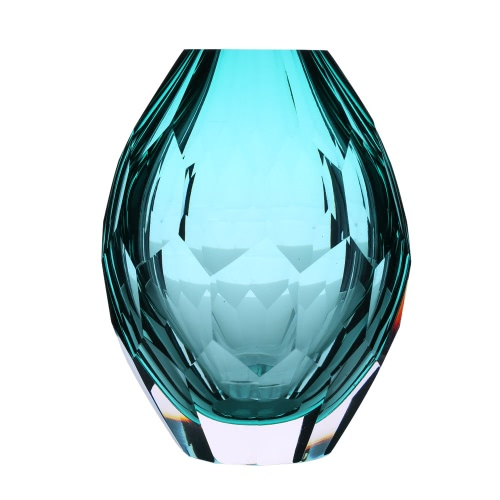 CASAMOTION Hand-blown Vintage Elegant Glass Vase Hand Polishing Home Art Decoration Floral Arrangements