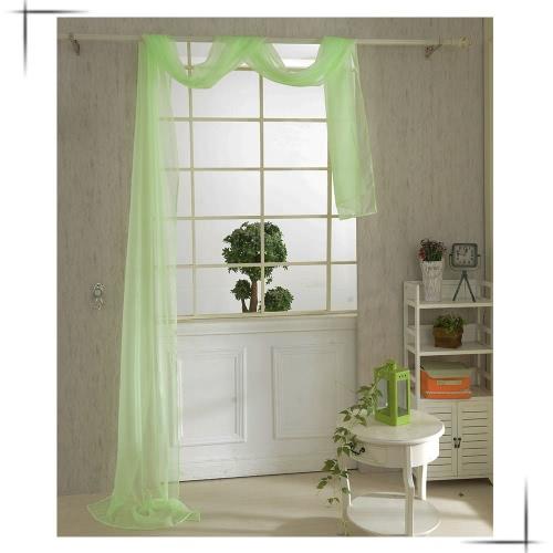 Драпировки Voile 82 * 550 cм романтический чистого цвета занавес окна двери для гостиной Banquet Свадебные украшения