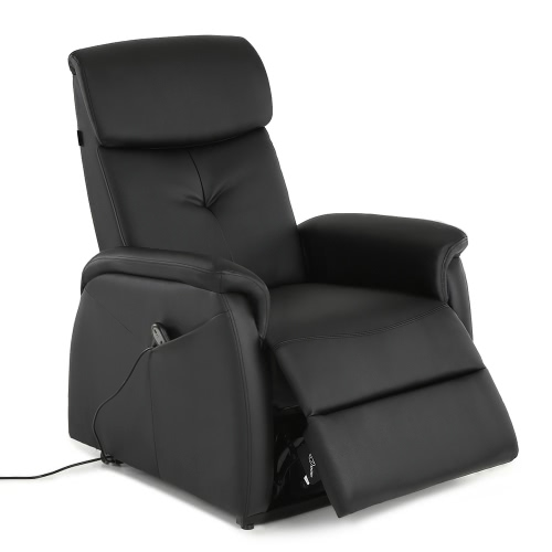 iKayaa Modern Comfortable Power Lift Recliner Padded High-quality Bounded Leather Lift Chair Single Sofa with Controller for Old People Living Room Bedroom