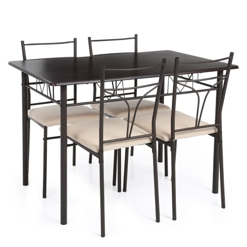iKayaa – Ensemble table et chaises à manger – 4 personnes