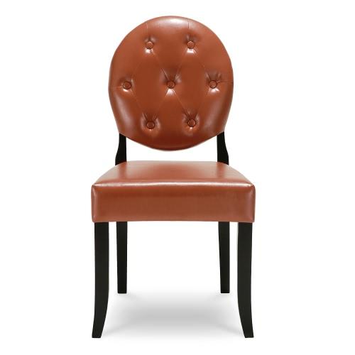 iKayaa – Chaise capitonnée contemporaine en cuir PU