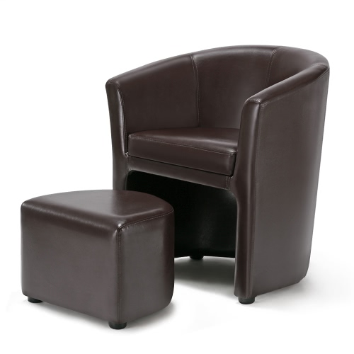 d s ikayaa fauteuil club chesterfield brun ou. Black Bedroom Furniture Sets. Home Design Ideas